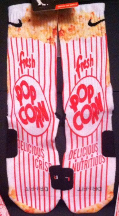 Popcorn Delicious Custom Nike Elite Socks by LuxuryElites on Etsy, $34.99