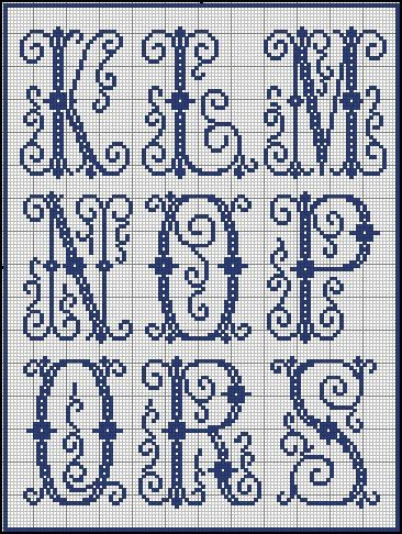 cross stitch lettering