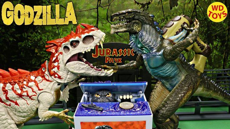 New Godzilla Movie Musical Monster  Piggy Bank TOMY Vs Indominus Rex Jur...