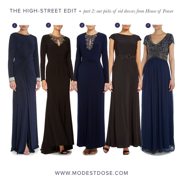 Part 2 of our sales edit featuring dresses from @houseoffraser. Suitable for eid or any occasion!  1.Vince Camuto 2.JS Collections 3.Vince Camuto 4.Eliza J 5.Adrianna Papell