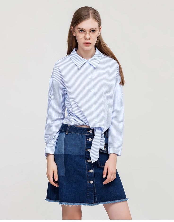 Spring New Fashionable Lace-up Blue Vertical Stripes Lapel Long Sleeve | $ 41.95 | Item is FREE Shipping Worldwide! | Damialeon |    Check out our website www.damialeon.com for the latest SS17 collections at the lowest prices than the high street. | Buy one here http://www.damialeon.com/wsetlink-2017-spring-new-fashionable-lace-up-blue-vertical-stripes-lapel-long-sleeve-100cotton-blous/ |      #damialeon #latest #trending #fashion #instadaily #dress #sunglasses #blouse #pants #boot #trainer…