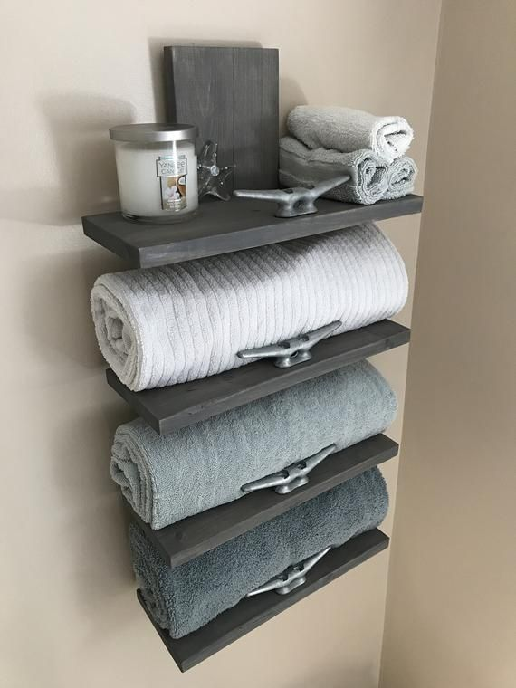Nautical Towel Rack Nautical Decor Bathroom Decor Home Decor Towel Holder Nautical Bathroom Decor Towel Rack Bathroom Decor Themes