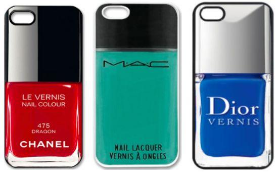 Najlepsze etui na telefony iPhone: lakiery do paznokci Chanel, Dior, MAC