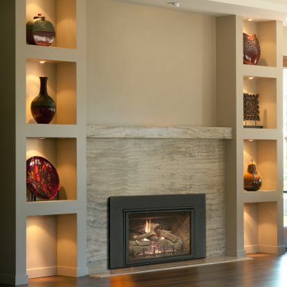 Real Fyre Direct Vent Fireplace Insert with Traditional Fire Screen