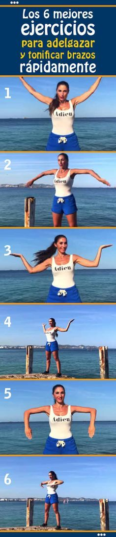 Los 6 mejores ejercicios para adelgazar y tonificar brazos rápidamente
