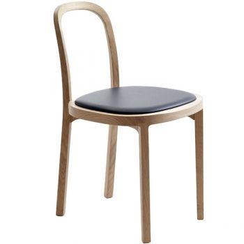 Siro+ tuoli, tammi - musta nahka