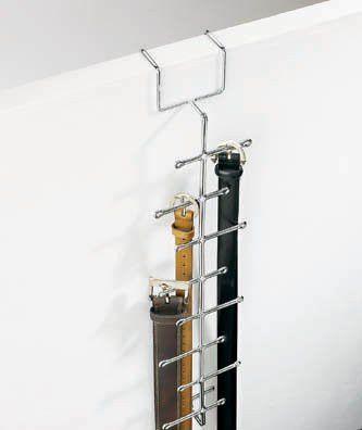 "Umbra Buckles Chrome Over-the-Door Belt Hanger (Chrome) (20.5""h x 3""w x 2.5""d)"
