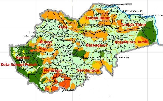 Peta Provinsi Jambi