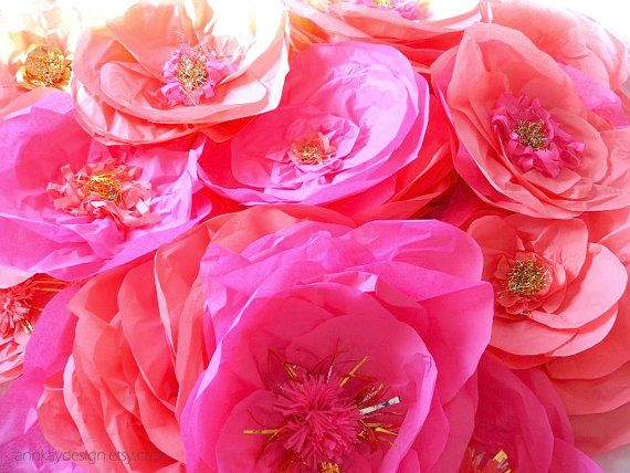 9 best giant paper flowers images on pinterest cooking food diy large tissue paper flowers 10 by annkaydesign on etsy mightylinksfo