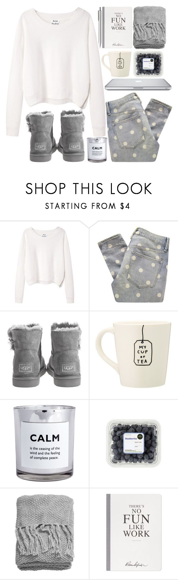 """""""Untitled #17"""" by dreamcloset1996 ❤ liked on Polyvore featuring Acne Studios, Marc by Marc Jacobs, Novo, UGG Australia, H&M, Selfridges and Muji"""