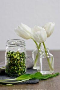 Dreierlei Bärlauch, die perfekte Beilage   Wild garlic as pesto