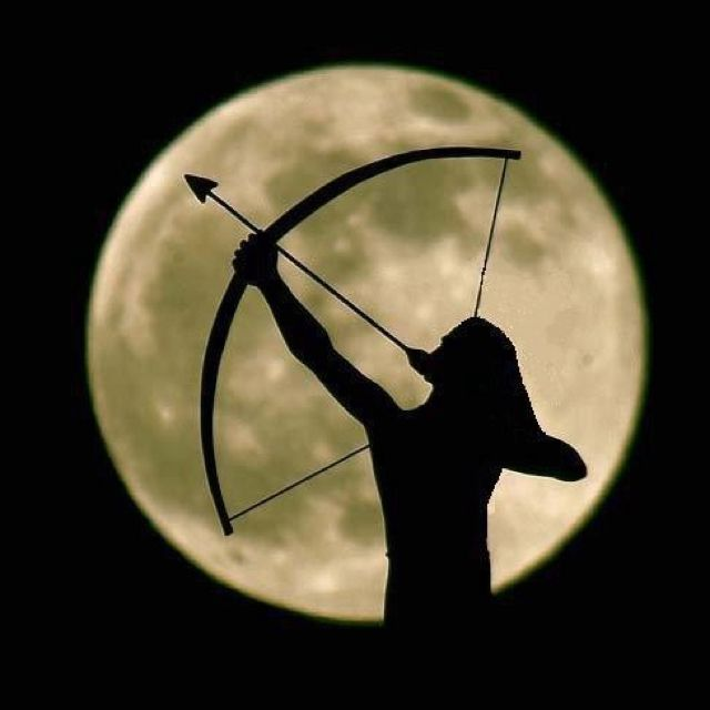 Archery by moonlight, reminds me of Katniss