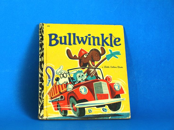 Bullwinkle Story Book - Little Golden Books - 1972 - Retro Vintage Children TV Cartoon Hardcover Rocky & Bullwinkle by FunkyKoala on Etsy