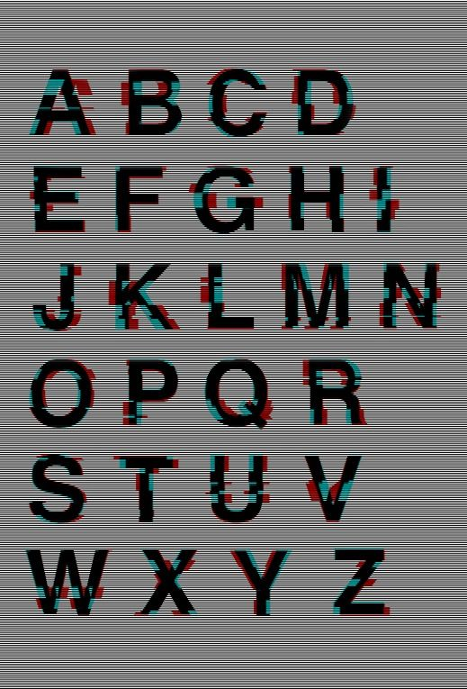 Glitched Helvetica, The Kraftwerk-Inspired KWERK, And Other Unusual Typefaces   The Creators Project