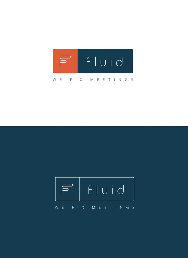fluidlogo a fluid slick clean modern logo within the world of tech