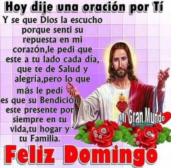 Feliz bendecido o y bendecido Domingo