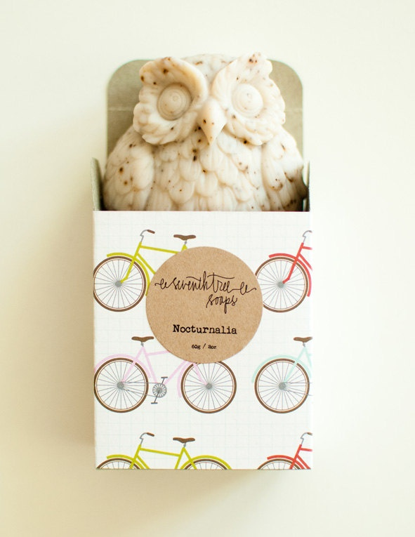 Coffee Scrub Soap - NOCTURNALIA Owl Soap - /seventhtreesoaps