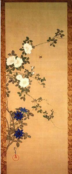 Flowers and Birds of the Twelve Months (Jûnikagetsu Kachô zu, 十二か月花鳥図), by Sakai Hōitsu (酒井 抱一, 1761-1828)