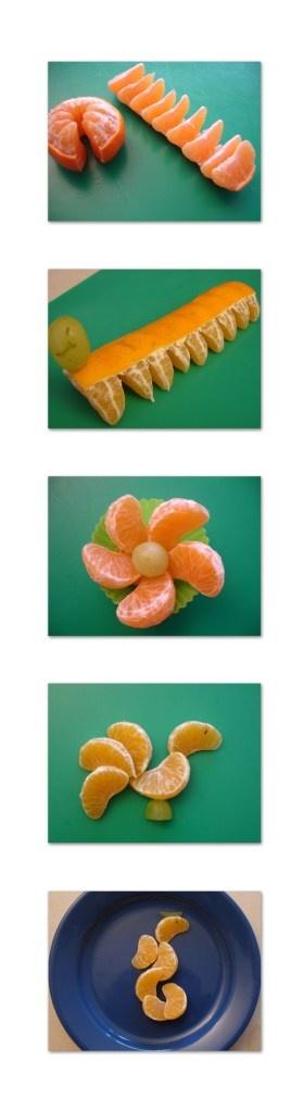 Fun with Tangerines via http://missgefreubel.wordpress.com/2012/11/25/manderijn-ideeen-tangerine-ideas/