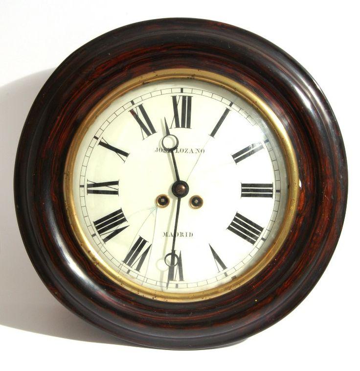 Reloj de pared tipo ojo de buey jos lozano madrid caja de - Tipos de relojes ...