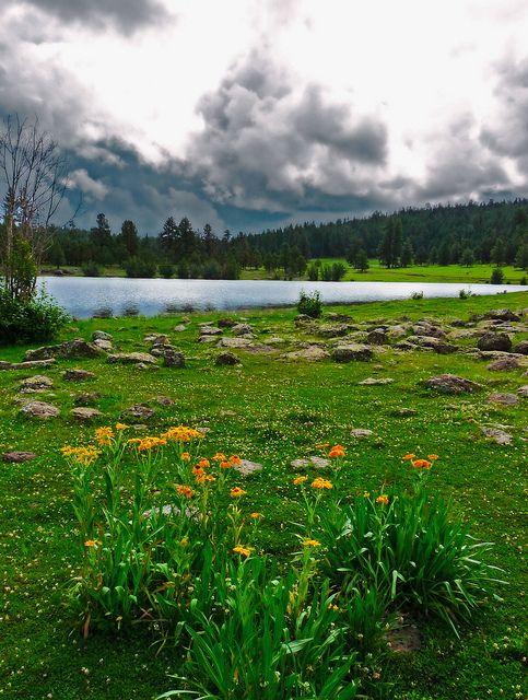 Hawley Lake near Pinetop-Lakeside, Arizona - Pinetop–Lakeside is a town in Navajo County, Arizona,