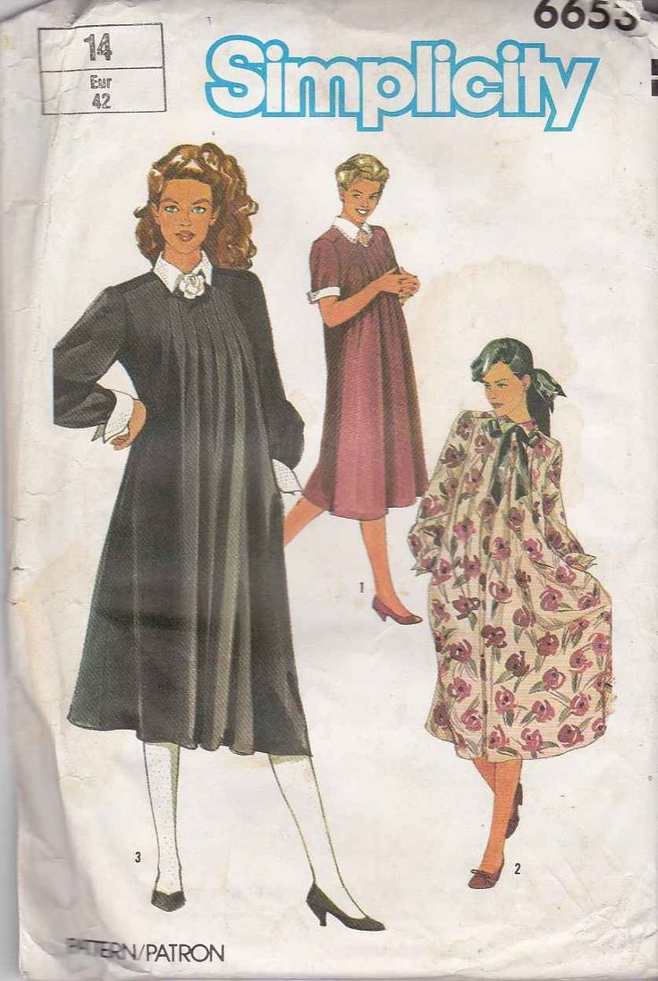 175 best maternity clothes moonwishes patterns images on simplicity sewing pattern 6653 misses size 14 maternity dress short long sleeves simplicitysewing ombrellifo Gallery