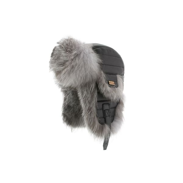 Chapka Herman cuir et fourrure renard Noir #hiver #mode #homme #streetwear #urbanwear #snow avec @hatshowroom