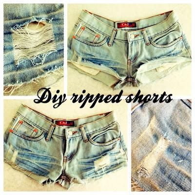 DIY RIPPED SHORTS! DIY Clothes DIY Refashion