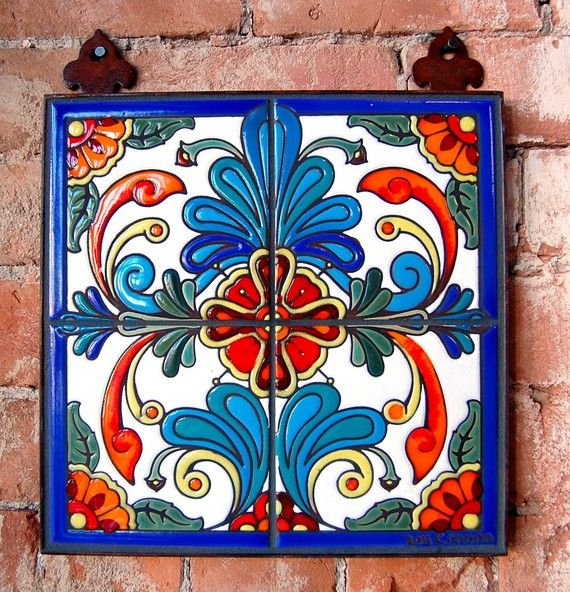 Beautiful hand painted tiles