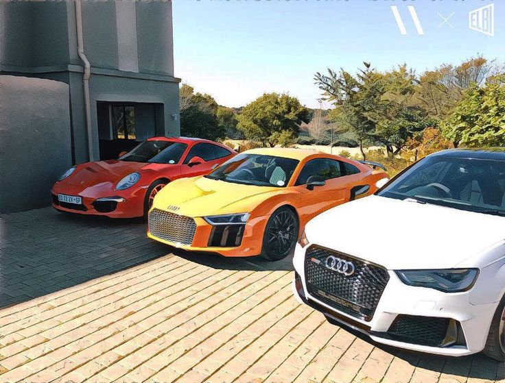 Now that's an epic lineup / collection  Photo and owner @mrmichaelbensch  #ExoticSpotSA #Zero2Turbo #SouthAfrica #Audi #R8 #V10plus #RS3 #CarreraS #Porsche #991