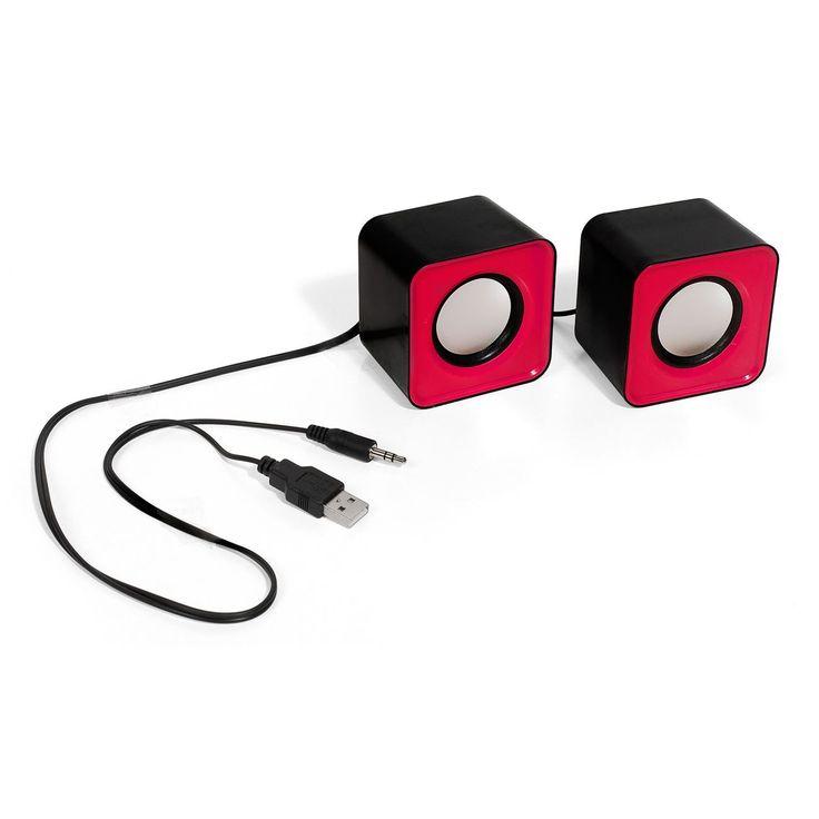 Η συσκευασία περιέχει 2 μαύρα - φούξια ηχεία USB 2.0. Ηχεία κατάλληλα για φορητό υπολογιστή, Η/Υ, συσκευή αναπαραγωγής CD και MP3.     Χαρακτηριστικά