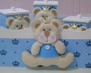 Kit Higiene Urso Príncipe Bege