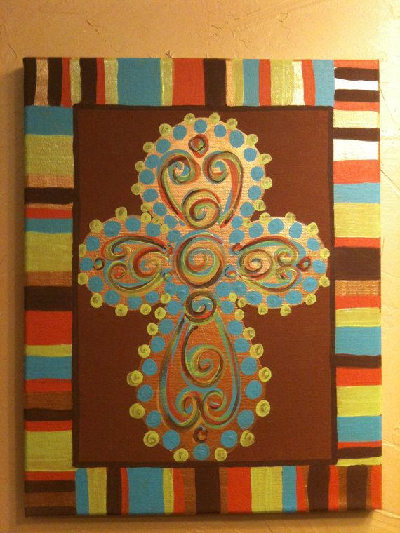 54 best Cross canvas ideas images on Pinterest | Cross paintings ...