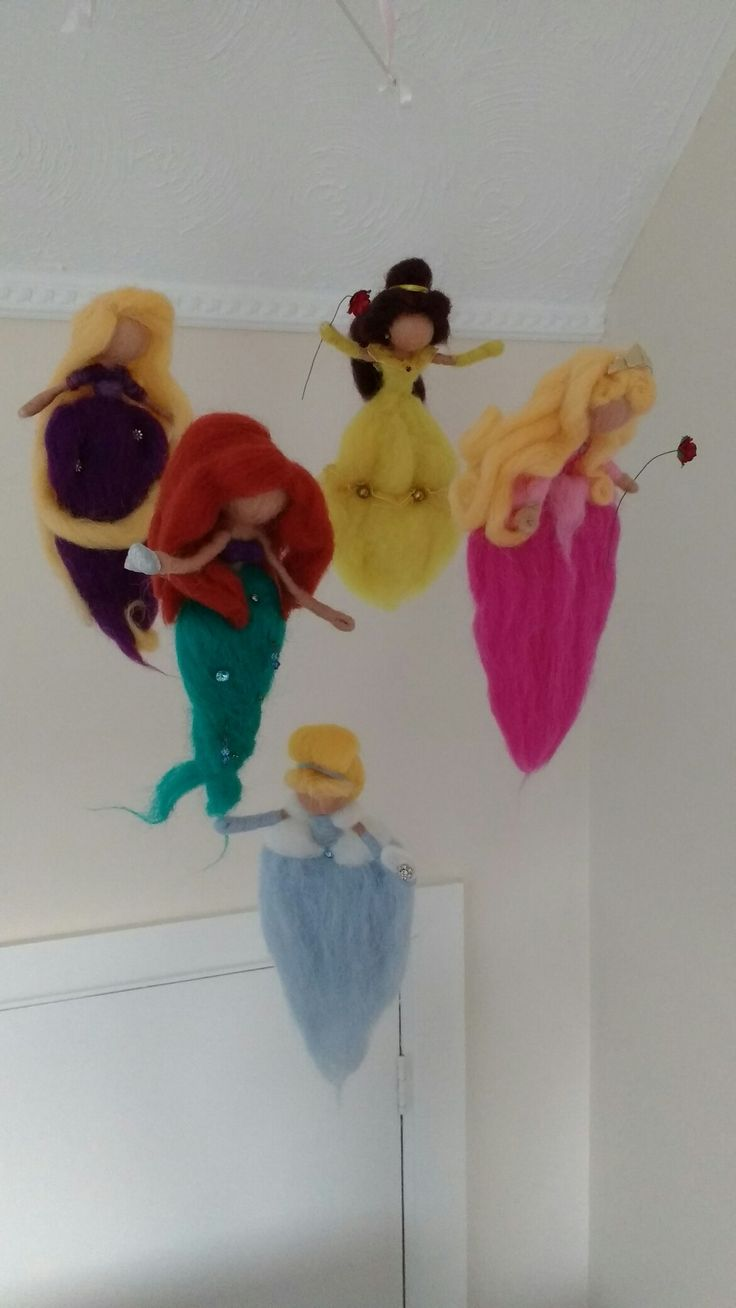 Needle Felted Princess Mobile