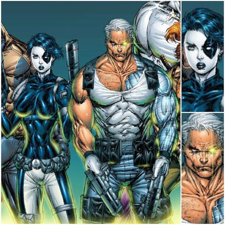 Cable & Domino by Rob Liefeld