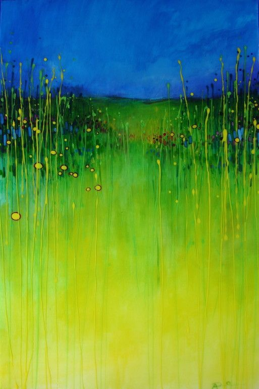 "I am loving this piece.  Saatchi Online Artist: Aaron Robbins; Acrylic 2012 Painting ""In a Field 3"""