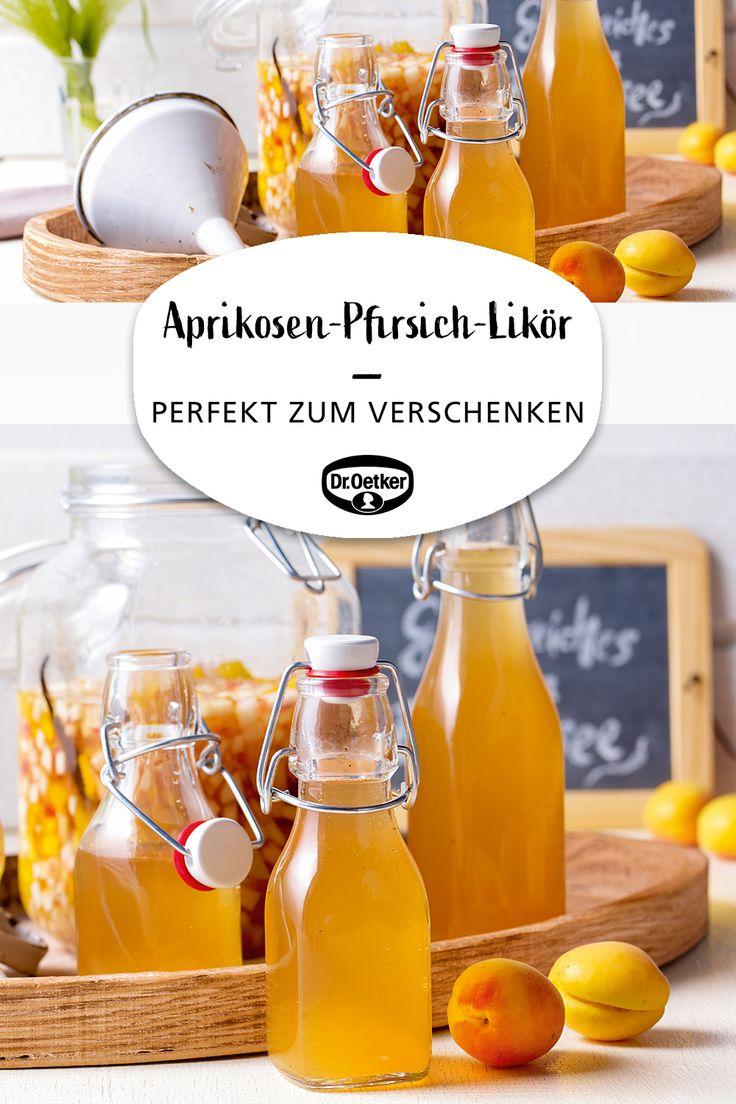 Aprikosen-Pfirsich-Likör