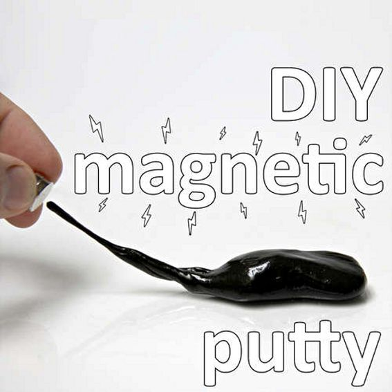 Magnet putty! via @Hm Harris Wow! my grandsons would love this!Ideas, Magnets Silly, Science Projects, Diy Magnets, Magnets Putty, Fun, Kids, Silly Putty, Rainy Days
