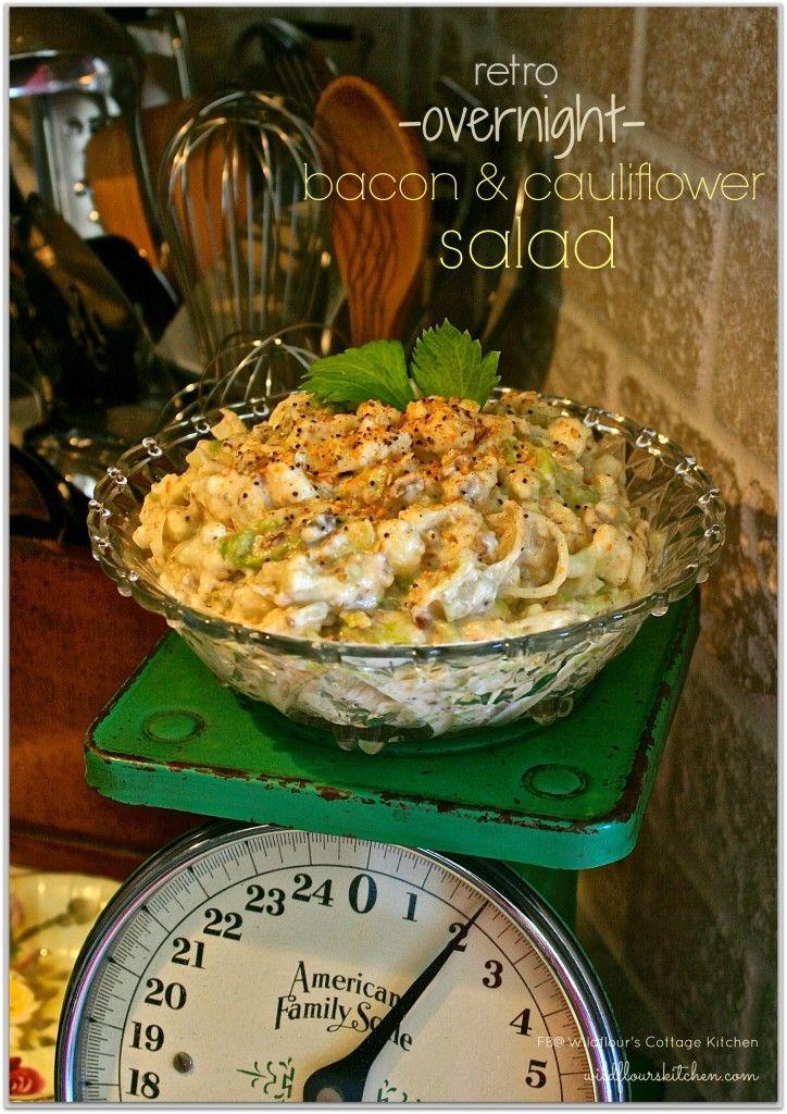 Retro Nacht Speck Blumenkohl Salat   – Food