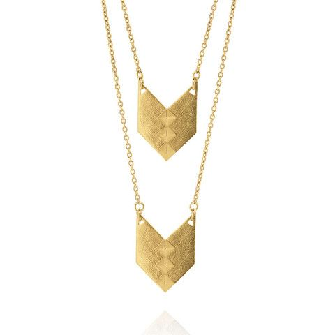 Nomad Necklace - Yellow Gold Plated Sterling Silver