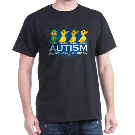 Autism Ugly Duckling T-Shirt on CafePress.com