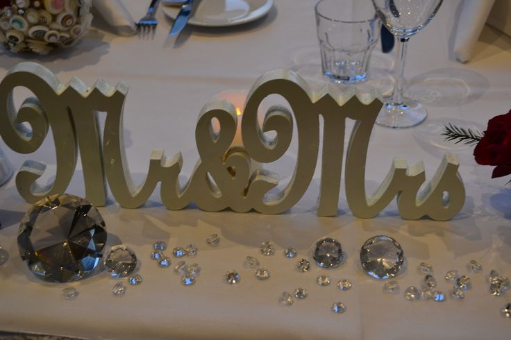 Opal Cove Resort - The Bridal Table featuring Mr & Mrs plus beautiful Swarovski Crystals