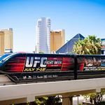 MONORAIL 4-mile route runs from MGM Grand / South Strip, to the SLS Las Vegas / North Strip. Stops at Paris/Bally's, the Flamingo, Harrah's, the Las Vegas Convention Center, and LVH: Las Vegas Hotel. to get where you want to go more quickly. AIR CONDITIONED WALKWAYS: Bally's-Paris, Bellagio-Vdara + Excalibur-Luxor-Mandalay Bay. TRAM: Exaclibur-Luxor-Mandalay Bay & Mirage-Treasure Island.