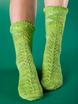 Butterfly Garden Sock Pattern - Free Knitting Patterns by Kerin Dimeler- Laurence