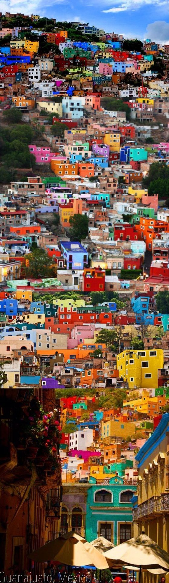 Beautiful, colorful city in Mexico.