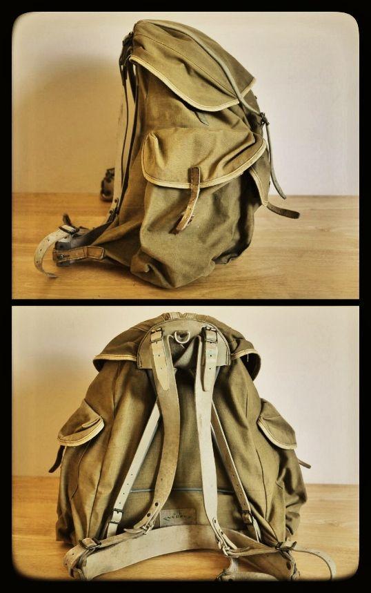 1950's vintage civilian canvas rucksack: