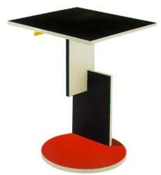 Gerrit Rietveld De Stijl mondrian painted End table