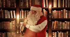 Santa Claus in library