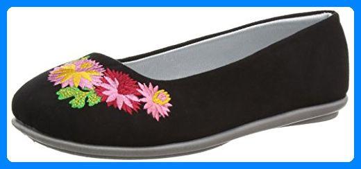 Freestep Damen Kimono Hausschuhe, Black (Black 200), 35.5 EU - Hausschuhe für frauen (*Partner-Link)