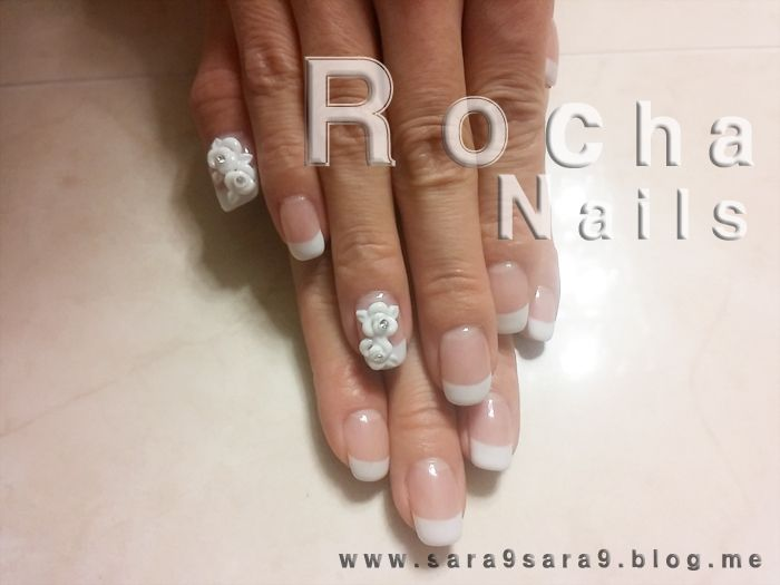 wedding nail/3D gel nails/3D flower nails